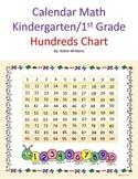 Calendar Math Kindergarten First Grade Hundreds Chart