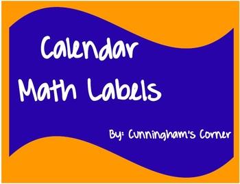 Calendar Math Labels