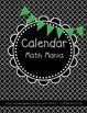 Calendar Math 100% BLACKLINE daily skill sheet!