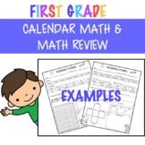 Calendar Math & Math Review