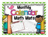 Calendar Math Mats - Color & BW - 2016 2017 School Year