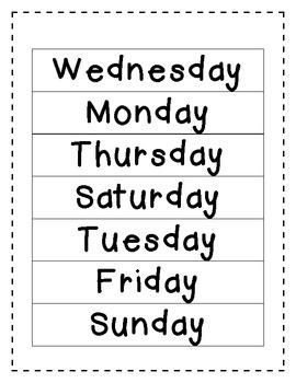 Calendar Math Mini Unit -5 Days