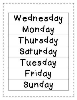 Calendar Math Mini Unit -5 Days
