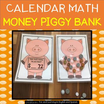 Calendar Math - Money Piggy Bank