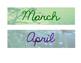 Calendar Math Months