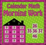 Calendar Math Morning Work (12 common core skills)