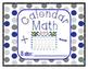 Calendar Math- Morning Work