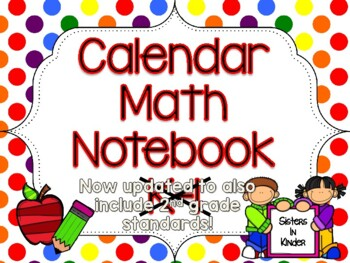 Calendar Math Notebook in English AND Spanish! *Now includ