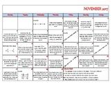 Calendar Math - November 2017