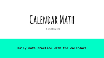 Calendar Math:  Number of the Play