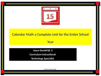 Calendar Math PPT for grades K-5
