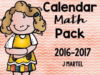 Calendar Math Pack (2016-2017)
