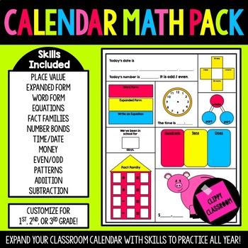 2nd Grade Calendar Math Pack