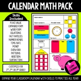 2nd Grade Calendar Math Pack