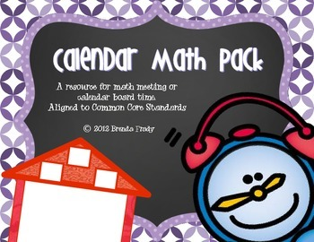 Calendar Math Pack Purple & Black