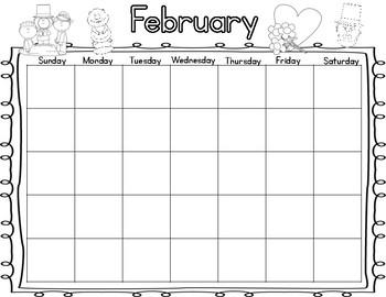 2015-2016 Calendar Math Packet/Blank School Calendar (Sept-June)