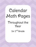 Calendar Math Pages