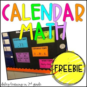 Calendar Math Pieces {FREEBIE}