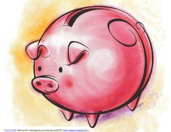 Calendar Math Piggy Bank