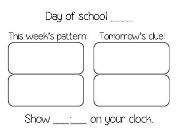 Calendar Math Poster