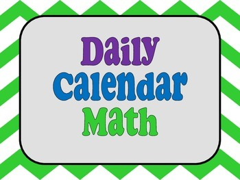 Calendar Math Printables