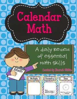 Calendar Math--Rainbow Background