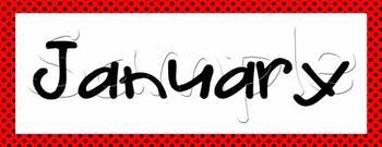 Calendar Math - Red with Black Polka Dots