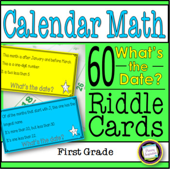 Calendar Math Riddles for First Grade