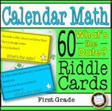 Calendar Math Riddles for First Grade