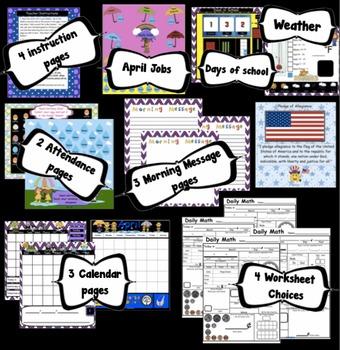 Calendar Math SMARTBoard for April Common Core - Attendance - Math - Calendar