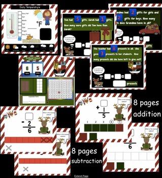 Calendar Math SMARTBoard for December Common Core - Attendance - Math - Calendar