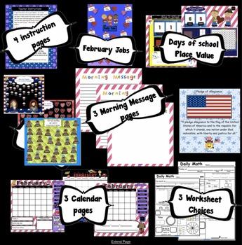 Calendar Math SMARTBoard for February Common Core - Attendance - Math - Calendar