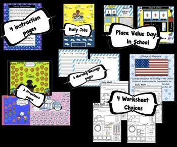 Calendar Math SMARTBoard for January Common Core - Attendance - Math - Calendar