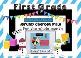 Calendar Math SMARTBoard for January Common Core - Attenda