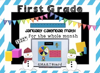 Calendar Math SMARTBoard for January Common Core - Attenda
