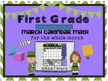 Calendar Math SMARTBoard for March Common Core - Attendance - Math - Calendar