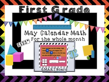 Calendar Math SMARTBoard for May Common Core - Attendance - Math - Calendar