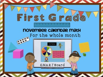 Calendar Math SMARTBoard for November Common Core - Attendance - Math - Calendar