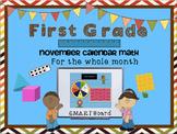 Calendar Math SMARTBoard for November Common Core - Attendance - Math - Calendar