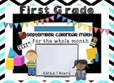 Calendar Math SMARTBoard for September Common Core-Attendance - Math - Calendar