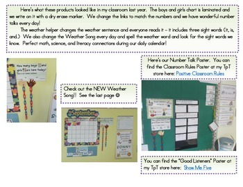 Calendar - Math, Science and Literacy Connections