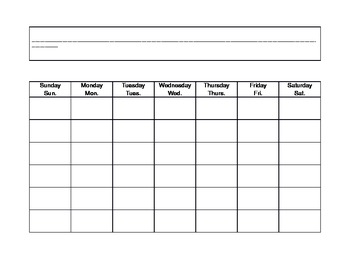 Calendar Math September Template for Folder