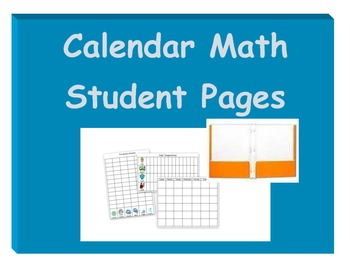 Calendar Math Student Pages