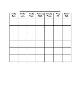 Calendar Math Student Worksheet