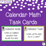 Calendar Math Task Card Activities ~ 1st Grade