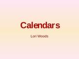 Calendar Math Teaching PowerPoint Lesson