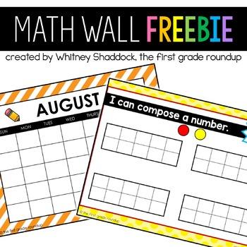 Calendar Math Wall FREEBIE