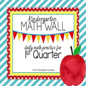 Calendar Math Wall: Kindergarten, 1st Quarter