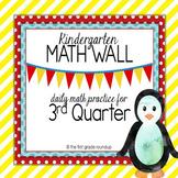 Calendar Math Wall: Kindergarten, 3rd Quarter