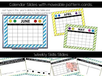 Calendar Math Wall: Kindergarten, 4th Quarter